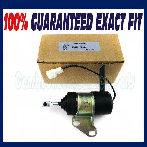 For Kubota shut off Fuel solenoid 16851-60014 16851-60010 RTV900R, RTV900S, RTV900T, RTV900W stop solenoid 12v 16851 60010 for kubota gf1800 gf1800e t1600h t1600hg tg1860 zd18f zd21f k 008 k008 k0083ktc kcl