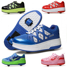 2016 New Kid wheelies shoes tenis deportivas zapatillas con ruedas girls ninos&ninas children boy roller shoes with two wheels