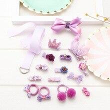 18PCS baby Hair clip Set Baby headband accessories cross kid hair Clip Cartoon girl Girl Accessories