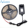 LED Strip Light 3528 5M 300LED Waterproof Flexible Strip Light Set Warm White/White/Red/Blue/Green + 12V 2A 24W Power Adapter