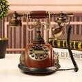 Имитация Дерева Ретро Старинные Антикварные Телефоны Континентальный стационарный Телефон Технологии Телефон По DHL/Fedex/UPS