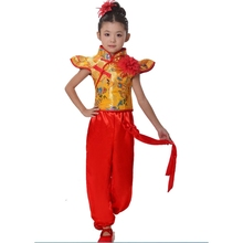 Chinese Folk Dance Costume for Boys and Girls Yanko Clothing  Drum Costumes Traditional