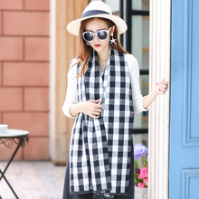 2016 New Winter Women's Scarves Cashmere Plaid Scarf Thick Warm Pashmina Christmas Gift Fashion Shawls and Wraps Tartan capes