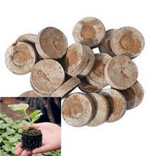 20 шт/лот семена питательный блок дерево ржавчины удобрение для растений сжатое удобрение увлажняющее питание торф БЛОК почвы