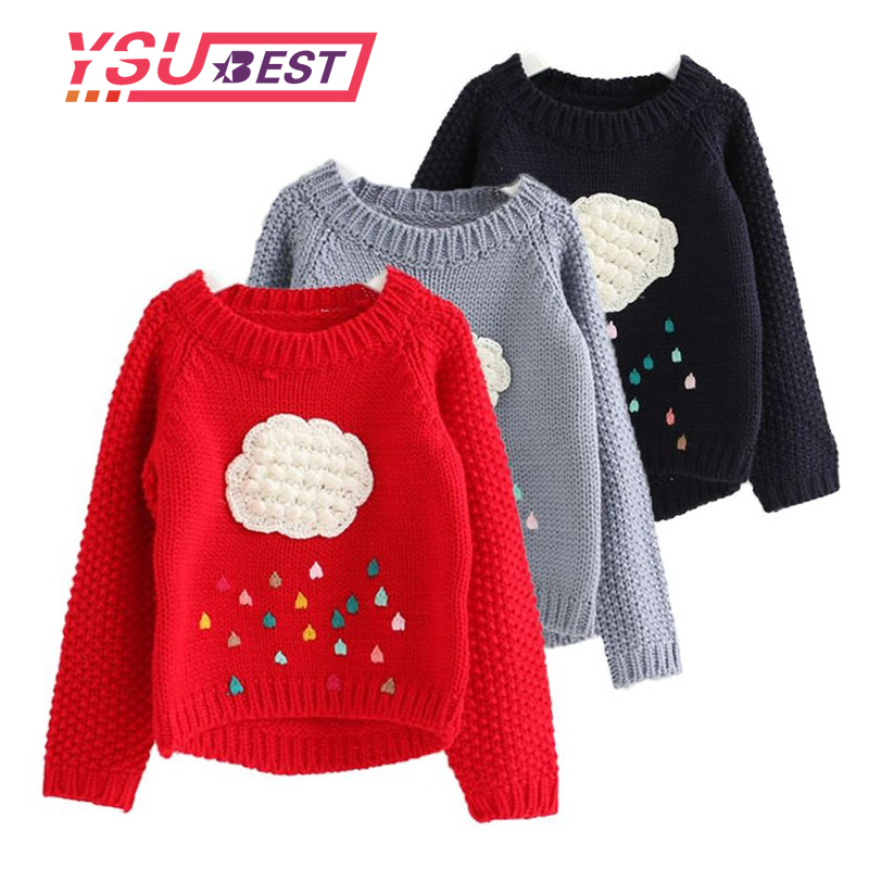 34464e5232f1f New Winter Baby Girls Sweater Cartoon Cloud Kids Clothes Children Sweater  Warm for Girls Knitwear Rain Sweater Boys Winter Tops