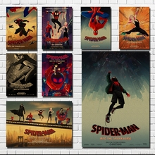 Spider-Man: Into the Spider-VerseDecoration Poster Kraft Paper Vintage Wall Sticker Retro