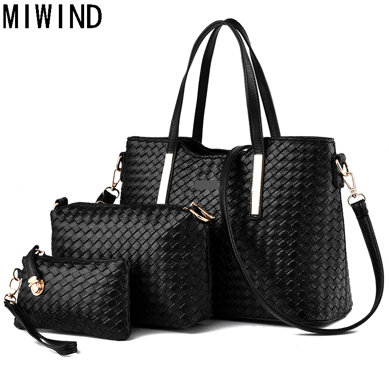 MIWIND Large Capacity Pu Leather Handbag Women Messenger Bag Casual Tote Bags Female Famous Brands Luxury Shoulder Bag TYH1074 new arrival casual women shoulder bags genuine leather female big tote bags luxury ladies handbag large capacity messenger bag