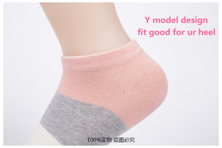 Hot sale!1lot=10pcs=5pair cotton socks cute polka dot women socks soft candy invisible short socks hosiery female Wholesale 7