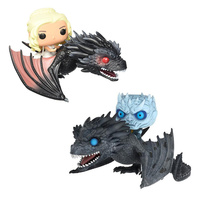 Game of Thrones Daenerys And Dragon Figure Nendoroid PVC Game Thrones Night King & Icy Viserion Riding Dragon Figurines Toys