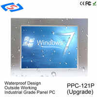 """Factory Store Low Price 12.1"""" Industrial Grade J1900 Quad Core Panel PC All In One Barebone PC With USB Port For Pet Hospital"""