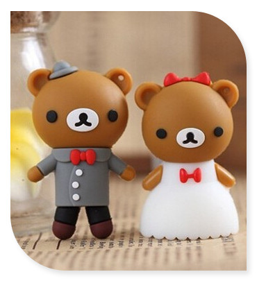 lovely bear usb flash drive best gift for him(her)2gb 4gb 8gb 16gb 32gb USB Flash 2.0 Memory Drive Stick Pen/Thumb/Car S255