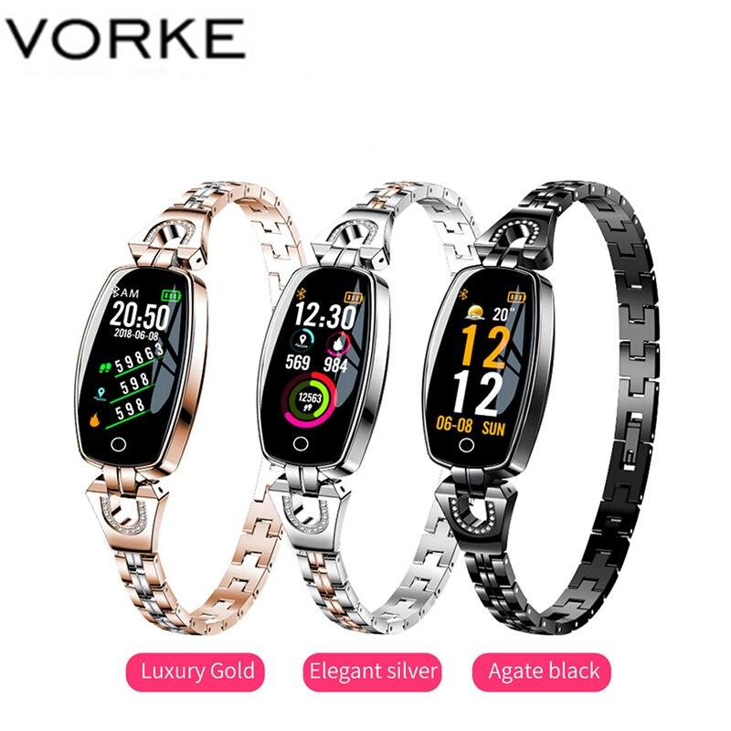 Vorke VK3 Bluetooth montre intelligente 2019 femmes élégant étanche montre intelligente Fitness Tracker moniteur de fréquence cardiaque pour tous les téléphones