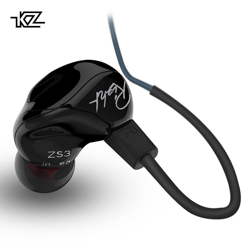 KZ ZS3 Ergonomico Staccabile Cavo Degli Auricolari In Ear Audio Monitor isolamento del Rumore HiFi Musica Sport Auricolari Con Microfono