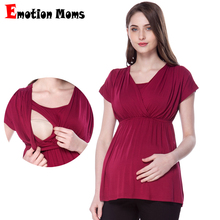 Emotion Moms Summer Maternity Clothes Nursing Breastfeeding T-shirt for pregnancy Nursing Tops for pregnant women Maternity tops цена и фото