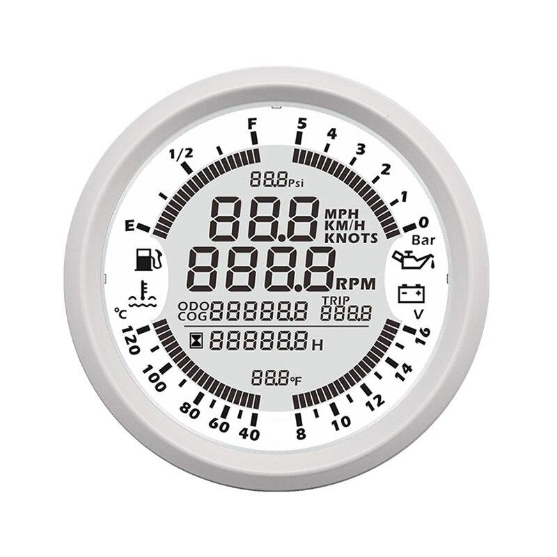 Barco Tacômetro Velocímetro Medidor GPS do carro Multifuncional Água Temp medidor de Nível De Combustível Pressão de Óleo fit Carro Motocicleta Voltímetro Navio