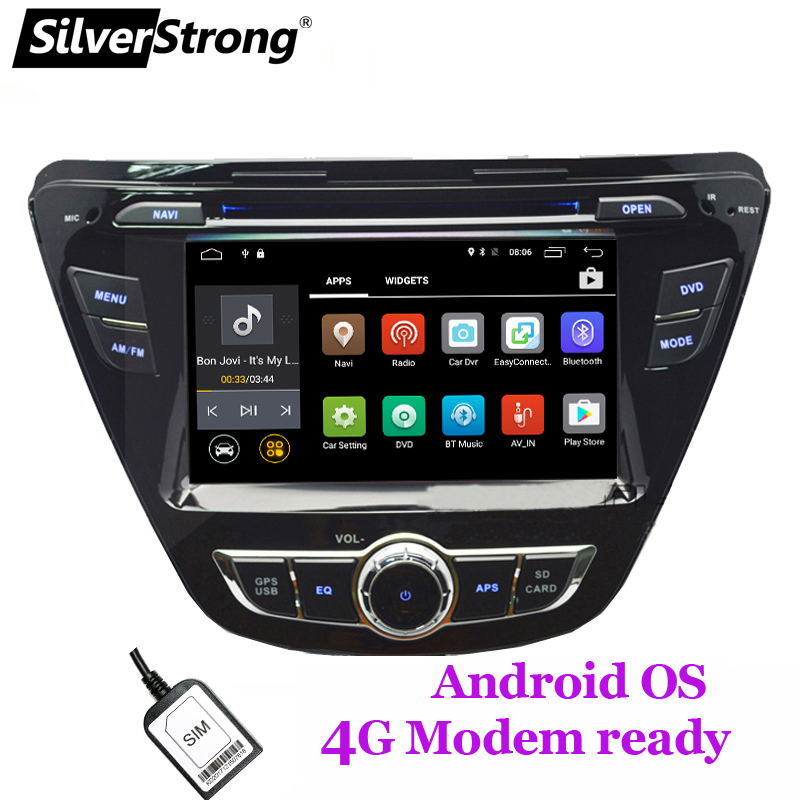 SilverStrong QuadCore 4GB SIM Android9 1 Car DVD For Hyundai Elantra Avante with WIFI 4G Modem