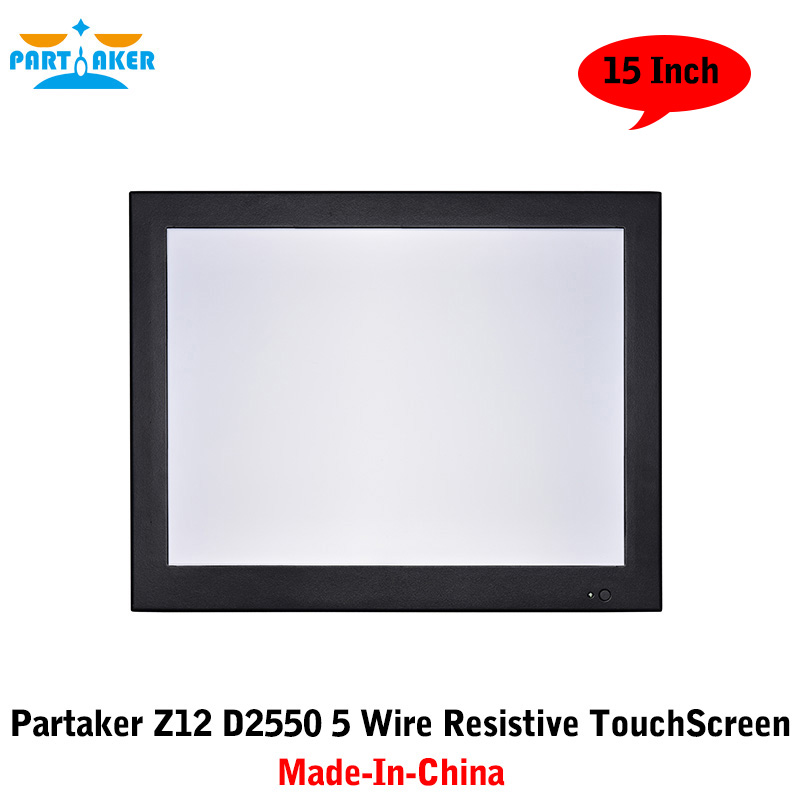 Partaker 15 Inch All In One Desktop With Made-In-China 5 Wire Resistive Touch Screen