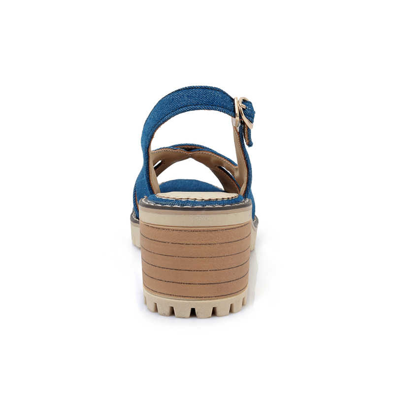 KARINLUNA גדול גודל 34-43 פנאי גבוהה עקבים נשים נעלי קיץ סנדלים נוחים 2018 חדש לגמרי שחור אישה נעליים