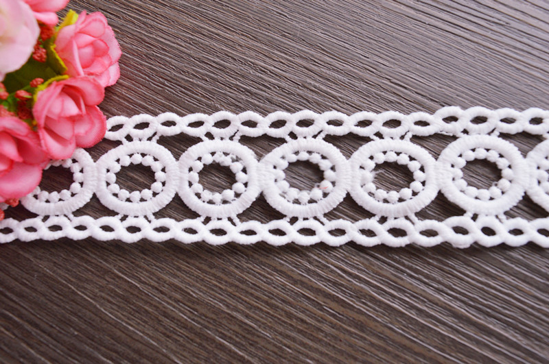 IVORY LACE 10 YARDS 4.5 INCHES WIDE NEW