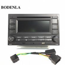 Bodenla rádio do carro rcn210 leitor de cd usb mp3 aux bluetooth para vw golf jetta mk4 passat b5 polo 9n
