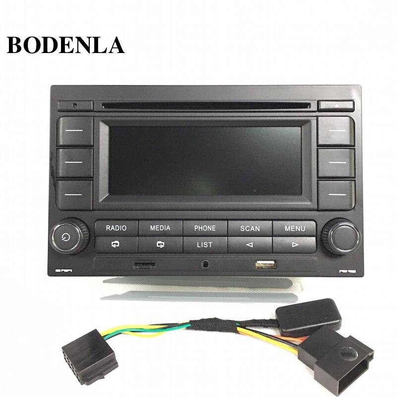 Bodenla rádio do carro rcn210 leitor de cd usb mp3 aux bluetooth para vw golf jetta mk4 passat b5 polo 9n