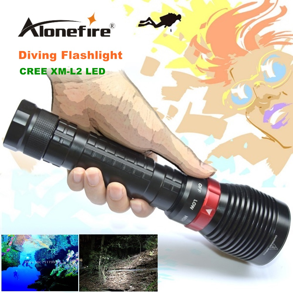 XY001 Underwater Diving Flashlight Torch XM-L2 LED Light Lamp Waterproof 2500Lm L2 LED Light by 18650 Battery For Driving supfire d6 160m underwater professional explosion proof strong diving led light flashlight grade exibii bt4 by 18650 battery