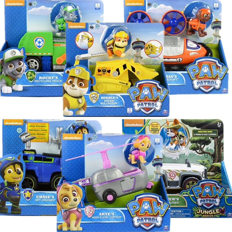 Genuine Paw Patrol Dog Toys Car Set Tracker Patrulla Canina Rescue Sets Anime Action Figures Canine PVC Toys Of Children GiftGenuine Paw Patrol Dog Toys Car Set Tracker Patrulla Canina Rescue Sets Anime Action Figures Canine PVC Toys Of Children Gift