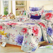 235cm 50cm piece 100 cotton flower printed cotton fabric for Baby Bedding Textile Patchwork Quilt Sewing