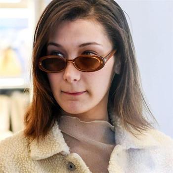 e0b91175864 2018 pequeño Oval gafas de sol de las mujeres de los hombres vintage retro  gafas de sol negro blanco rosa claro tonos gafas de sol para mujer 90 s