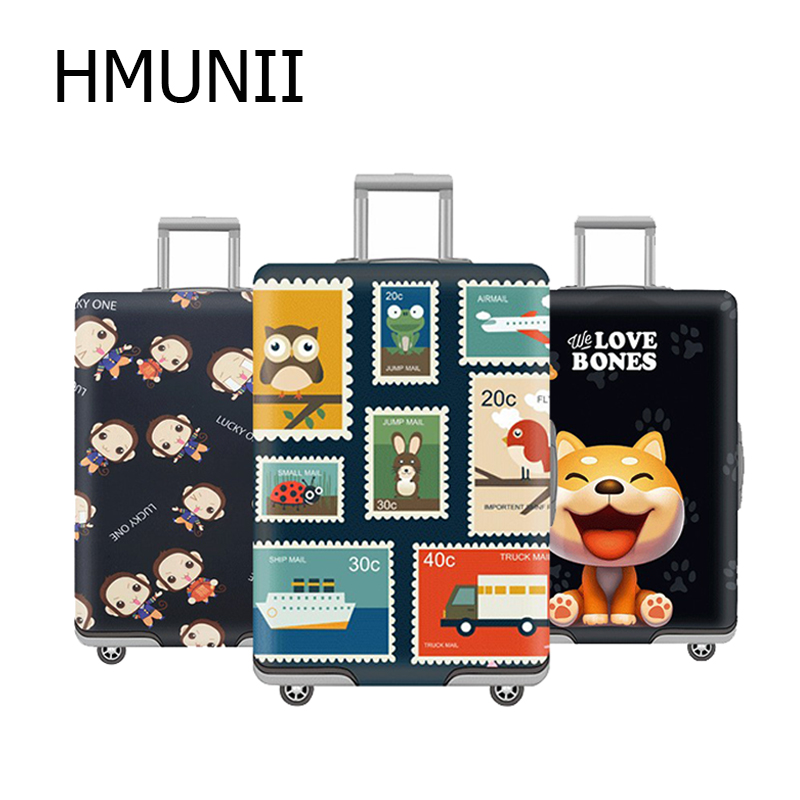 HMUNII 3D Cute Bear Suitcase Protective Covers Luggage Protective Cover Trolley Case Dust For 18-32 Inch Travel Accessories