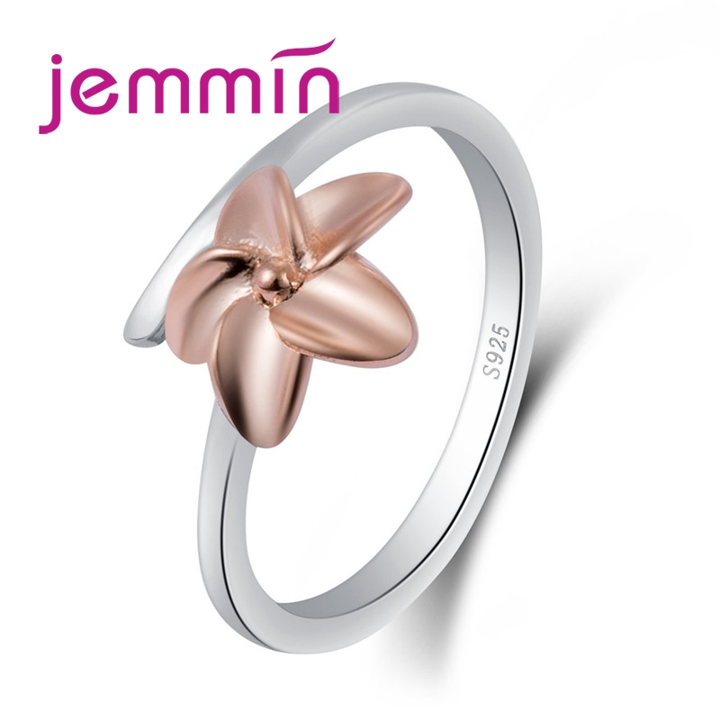 Moda clásica 925 anillo de plata de ley con flores para mujer joyería de boda para fiestas al por mayor joyería de moda BAMOER moda nueva genuina Plata de Ley 925 misterio océano encantos cuentas aptas mujeres encanto pulseras DIY piedra joyería SCC246