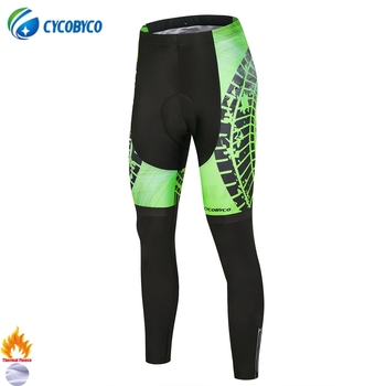 Cycobyco-Pantalones largos con almohadilla 4D para Ciclismo, mallas para bicicleta de montaña,...