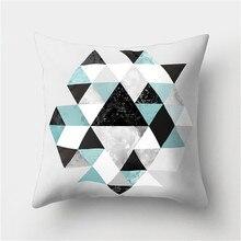 Nordic Simple Lines Алмазный Чехол для подушки 45x45см Геометрические Печатные Декоративные