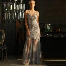 Women Vintage 1920s Flapper Charleston Great Gatsby Dress O Neck Sleeveless Sheath Long Party