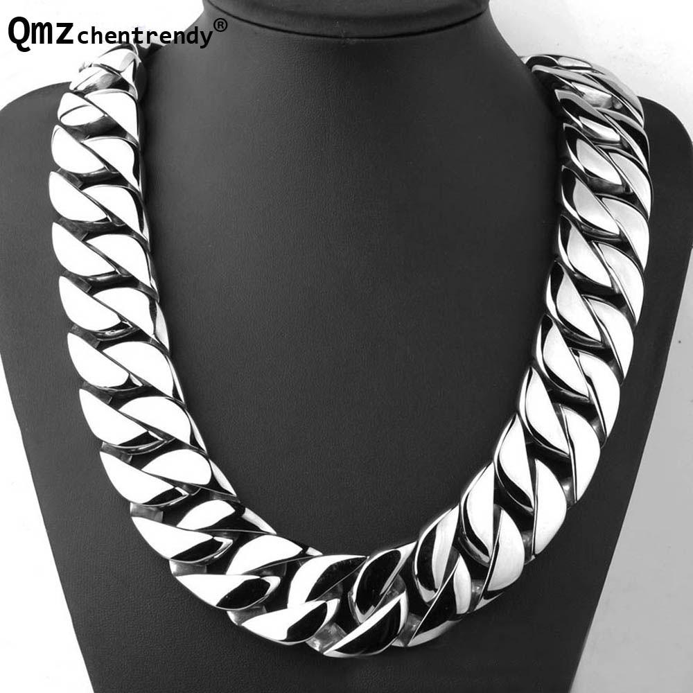 Купить мужская сверхтяжелая плоская цепочка qmzchendy кубинское ожерелье