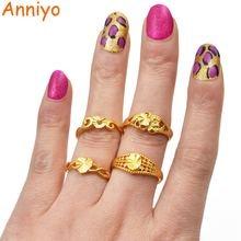 Женское свадебное кольцо anniyo Золотое в арабском стиле для