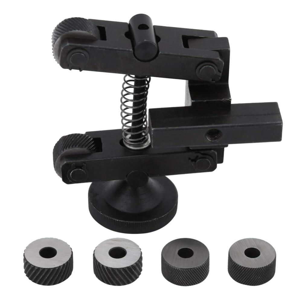 1 pcs Knurling Knurler Tool Holder Linear Knurl Tool Lathe Adjustable Shank with Wheel