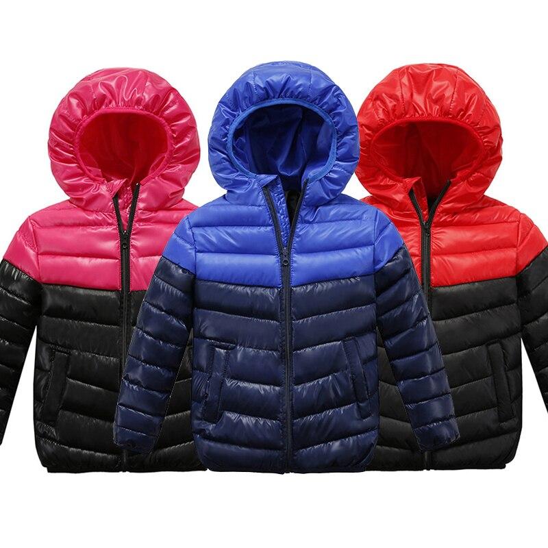 2018 куртка для маленьких мальчиков зимние теплые куртки для мальчиков Дети Костюмы куртка с капюшоном Детская Верхняя одежда Пальто 4 7 От 9 д...
