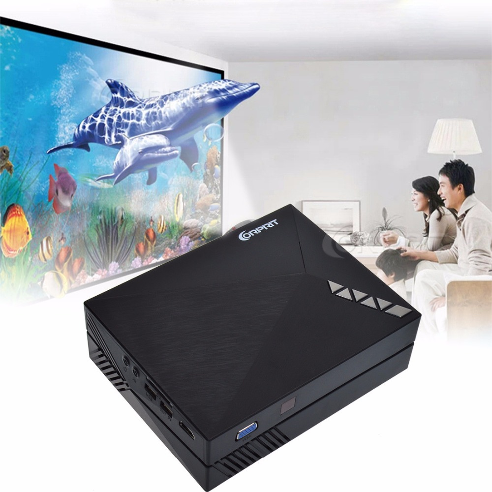 2016 Upgrade Version GM60A Built in Miracast Airplay Mini LCD Projector 800 x 480 Resolution Support