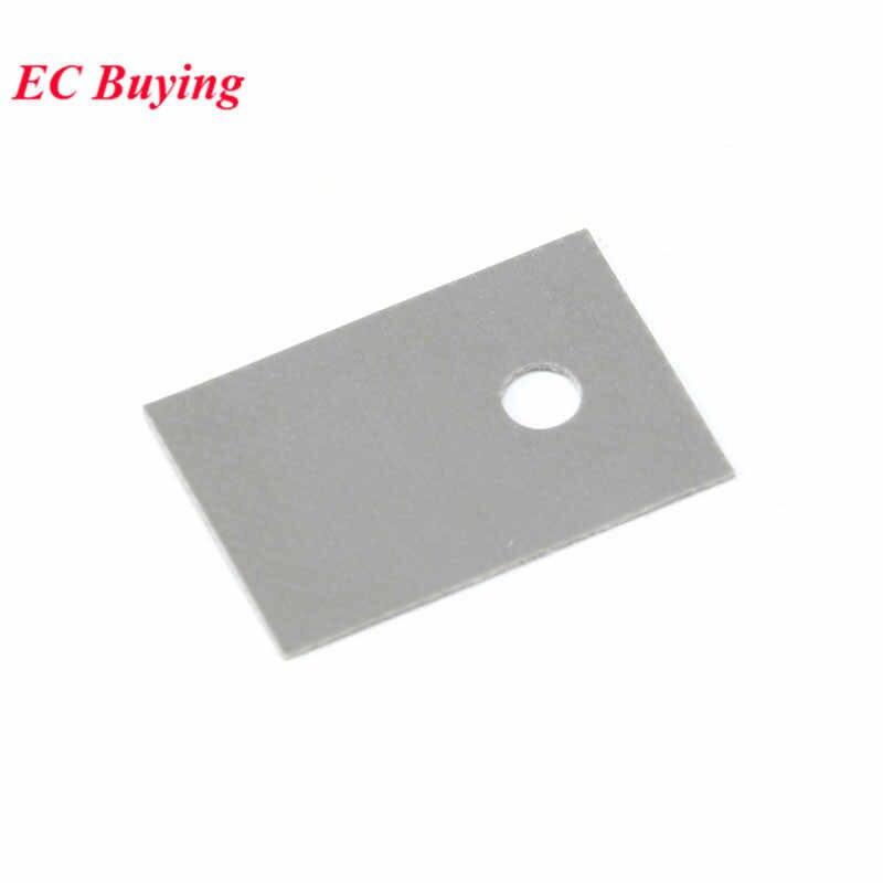 100 PCS TO-220 di Isolamento Pad In Silicone del Dissipatore di Calore Shim Transistor Isolamento In Silicone Pellicola