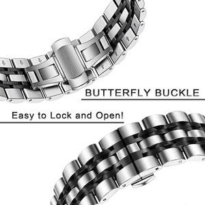 Image 3 - Bandream Zero Gap correa de reloj de acero inoxidable para Samsung Galaxy Watch, 46mm, SM R800 Gear S3, correa de repuesto, pulsera