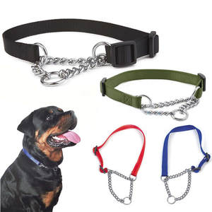Misterolina Dog-Collar Link-Chain Necklace Training-Accessories Dogs Nylon Adjustable-Size