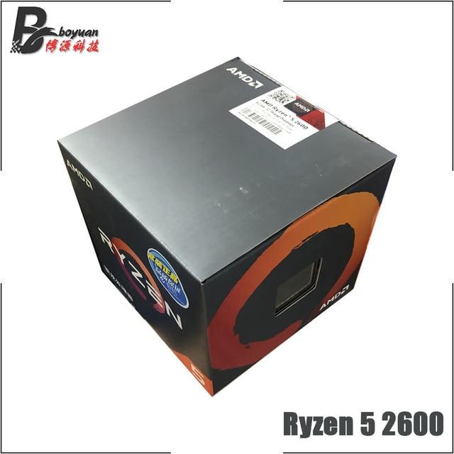 AMD Ryzen 5 2600 R5 2600 3.4 GHz 6 Core 12 ด้าย CPU โปรเซสเซอร์ YD2600BBM6IAF ซ็อกเก็ต AM4 ใหม่และพัดลม