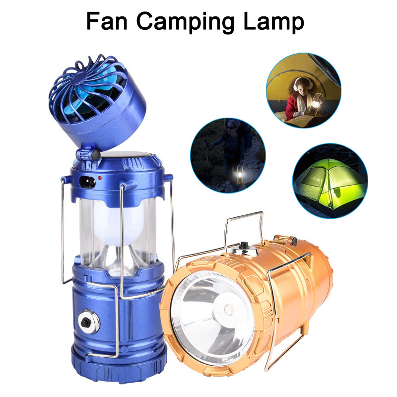 Portable Solar Rechargeable Fan Multi-function LED Light Camping Table Lamp Flashlight Tool CLH@8