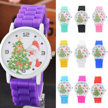 Silicone Strap Ladies Watch Christmas Elderly Tree Watches Women Sport Clock Analog Quartz Christmas Gift Wristwatch(China)