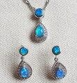 Bonito da forma azul / rosa / branco Opal de fogo de jóias para mulheres