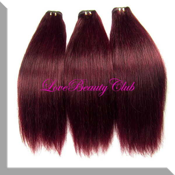 22 Ombre Hair Extensions 40gpcs 99j Red Wine Color Brazilian