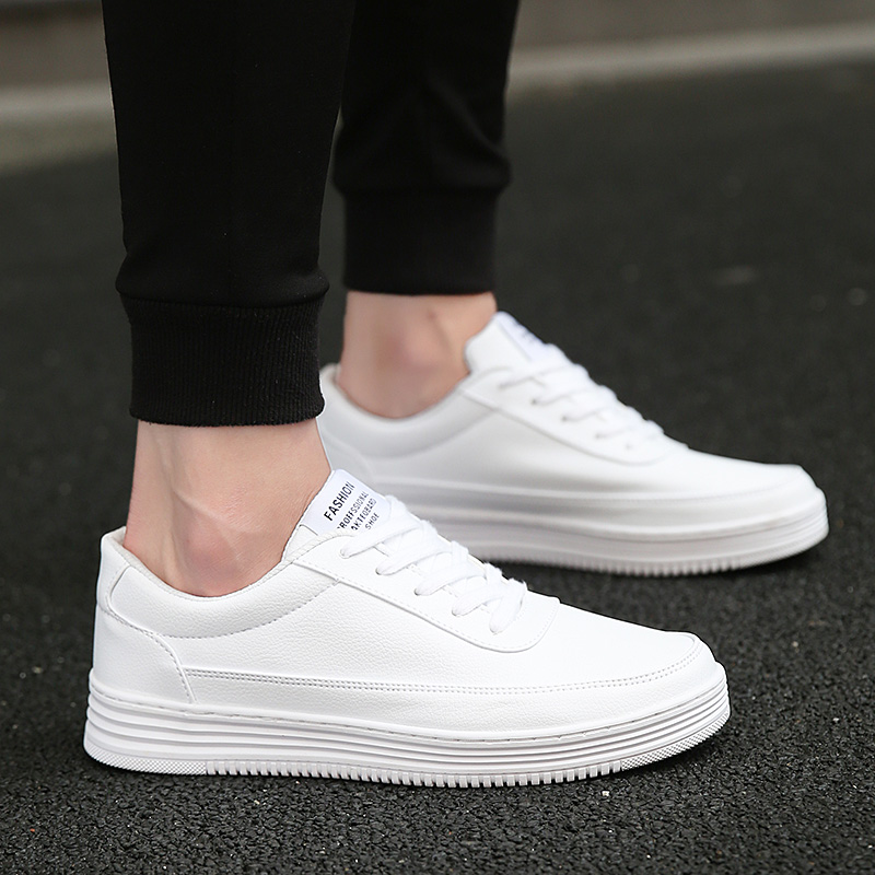 Men Vulcanized Shoes Simple Round Toe Casual Shoes Mens White Daily Shoes Footwear Male Big Size 36 47 Fashion Brand Walkerpeak