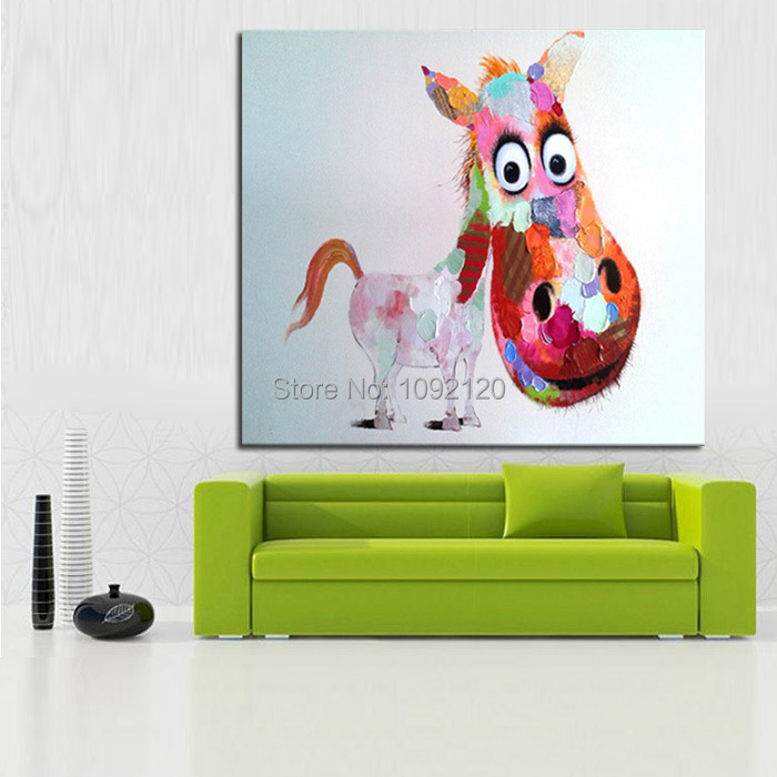 Online Shop Decorative Art Handmade Oil Painting On Canvas Living Room Home  Decor Big Head Horse Wall Paintings Animal Pictures | Aliexpress Mobile Part 48