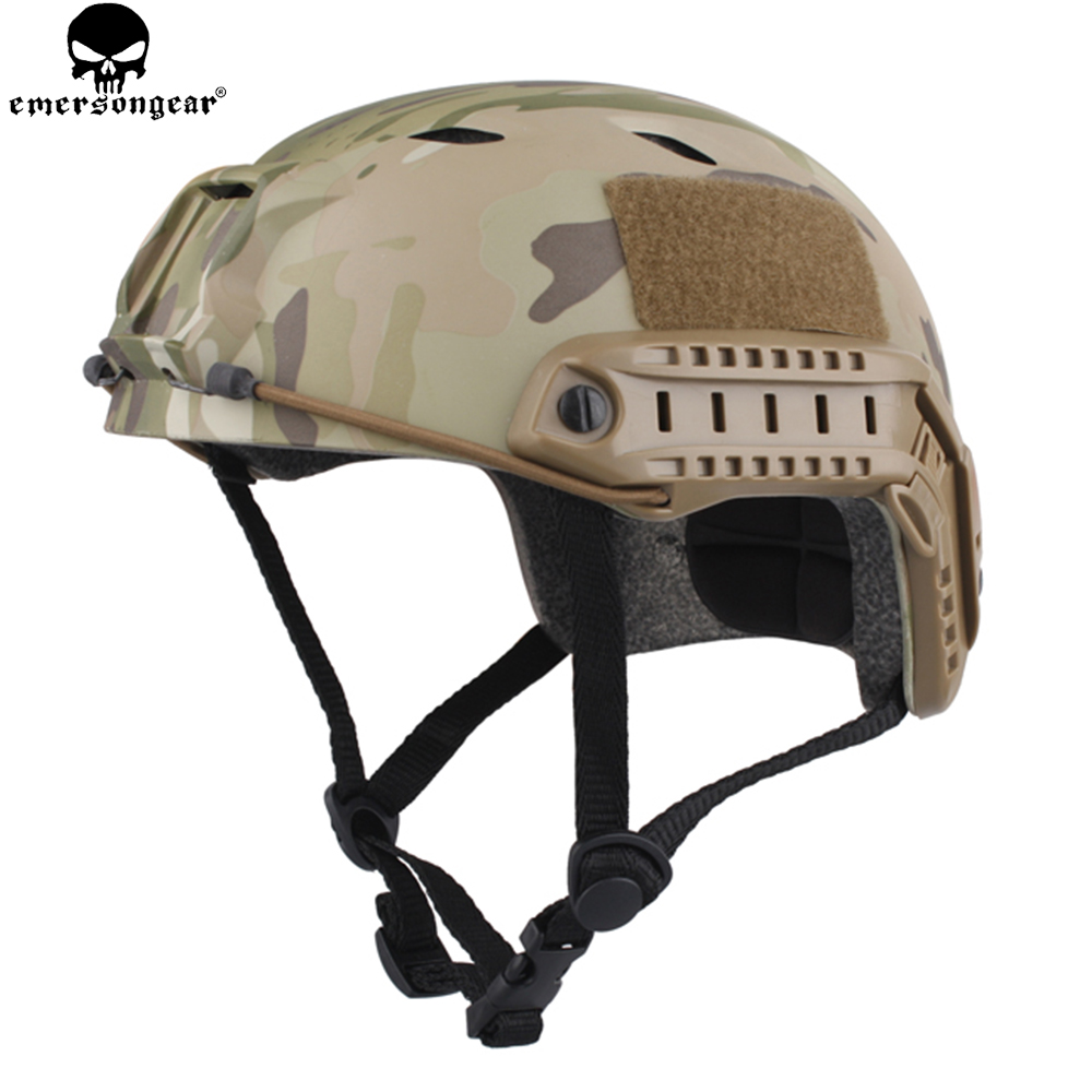 EMERSONGEAR Fast Helmet Base Jump Type Durable Airsoft Helmet MultiCam Hunting Hiking Cycling EM8810 цена